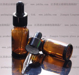 10ml茶色玻璃精油瓶子/香水瓶/滴管瓶/调配瓶/尖头电化铝奶头滴管